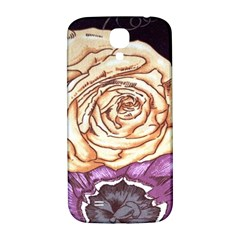 Texture Flower Pattern Fabric Design Samsung Galaxy S4 I9500/i9505  Hardshell Back Case