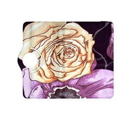 Texture Flower Pattern Fabric Design Kindle Fire Hdx 8 9  Flip 360 Case