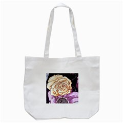 Texture Flower Pattern Fabric Design Tote Bag (white)