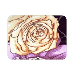 Texture Flower Pattern Fabric Design Double Sided Flano Blanket (mini)