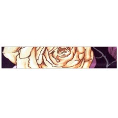 Texture Flower Pattern Fabric Design Flano Scarf (Large)
