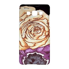 Texture Flower Pattern Fabric Design Samsung Galaxy A5 Hardshell Case