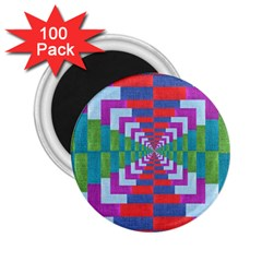 Texture Fabric Textile Jute Maze 2.25  Magnets (100 pack)