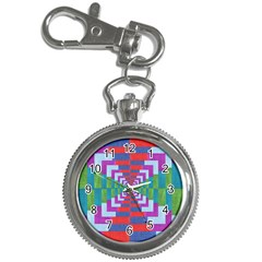 Texture Fabric Textile Jute Maze Key Chain Watches