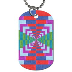 Texture Fabric Textile Jute Maze Dog Tag (Two Sides)