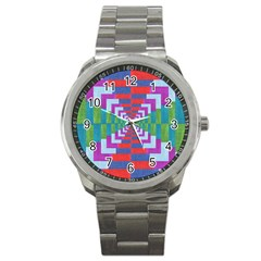 Texture Fabric Textile Jute Maze Sport Metal Watch