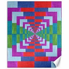 Texture Fabric Textile Jute Maze Canvas 16  x 20
