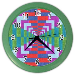 Texture Fabric Textile Jute Maze Color Wall Clocks
