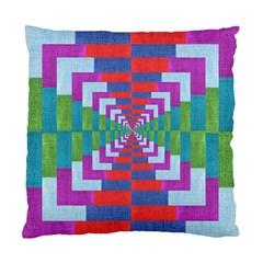 Texture Fabric Textile Jute Maze Standard Cushion Case (One Side)