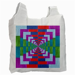 Texture Fabric Textile Jute Maze Recycle Bag (Two Side)
