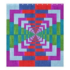 Texture Fabric Textile Jute Maze Shower Curtain 66  x 72  (Large)