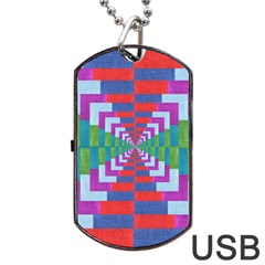 Texture Fabric Textile Jute Maze Dog Tag Usb Flash (one Side)