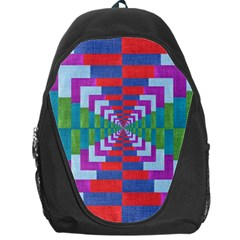 Texture Fabric Textile Jute Maze Backpack Bag