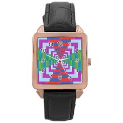 Texture Fabric Textile Jute Maze Rose Gold Leather Watch