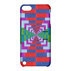 Texture Fabric Textile Jute Maze Apple iPod Touch 5 Hardshell Case with Stand