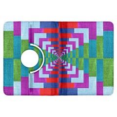 Texture Fabric Textile Jute Maze Kindle Fire Hdx Flip 360 Case