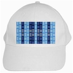 Textile Structure Texture Grid White Cap