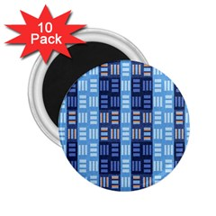 Textile Structure Texture Grid 2.25  Magnets (10 pack)