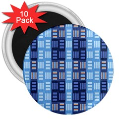Textile Structure Texture Grid 3  Magnets (10 pack)