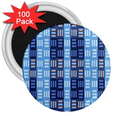 Textile Structure Texture Grid 3  Magnets (100 Pack)