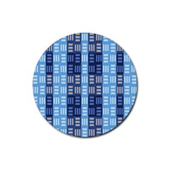 Textile Structure Texture Grid Rubber Coaster (Round)