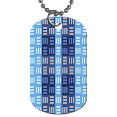 Textile Structure Texture Grid Dog Tag (One Side)