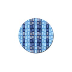 Textile Structure Texture Grid Golf Ball Marker (4 Pack)