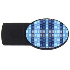 Textile Structure Texture Grid USB Flash Drive Oval (2 GB)