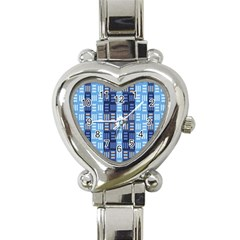 Textile Structure Texture Grid Heart Italian Charm Watch