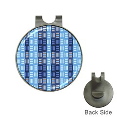 Textile Structure Texture Grid Hat Clips with Golf Markers
