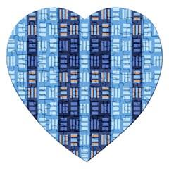 Textile Structure Texture Grid Jigsaw Puzzle (Heart)