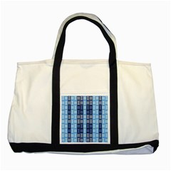 Textile Structure Texture Grid Two Tone Tote Bag