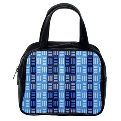 Textile Structure Texture Grid Classic Handbags (one Side)