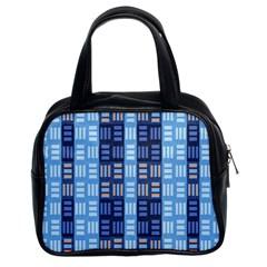 Textile Structure Texture Grid Classic Handbags (2 Sides)