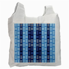 Textile Structure Texture Grid Recycle Bag (One Side)