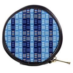 Textile Structure Texture Grid Mini Makeup Bags