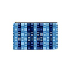 Textile Structure Texture Grid Cosmetic Bag (Small)