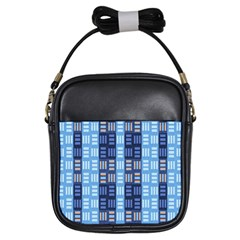 Textile Structure Texture Grid Girls Sling Bags