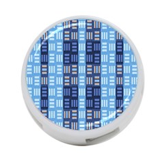 Textile Structure Texture Grid 4-Port USB Hub (One Side)