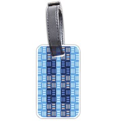 Textile Structure Texture Grid Luggage Tags (two Sides)