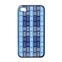 Textile Structure Texture Grid Apple iPhone 4 Case (Black)