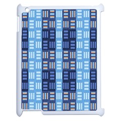 Textile Structure Texture Grid Apple iPad 2 Case (White)