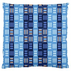 Textile Structure Texture Grid Large Cushion Case (one Side)
