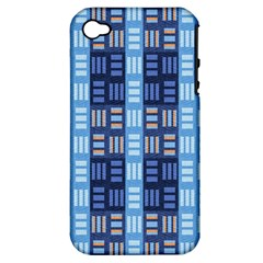 Textile Structure Texture Grid Apple Iphone 4/4s Hardshell Case (pc+silicone)