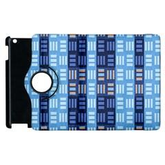 Textile Structure Texture Grid Apple Ipad 2 Flip 360 Case