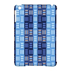 Textile Structure Texture Grid Apple iPad Mini Hardshell Case (Compatible with Smart Cover)