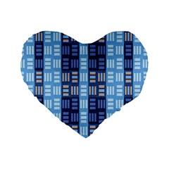 Textile Structure Texture Grid Standard 16  Premium Heart Shape Cushions