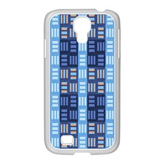 Textile Structure Texture Grid Samsung Galaxy S4 I9500/ I9505 Case (white)