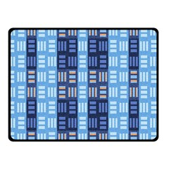 Textile Structure Texture Grid Double Sided Fleece Blanket (small)
