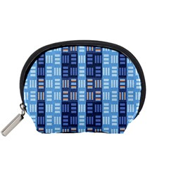 Textile Structure Texture Grid Accessory Pouches (small)